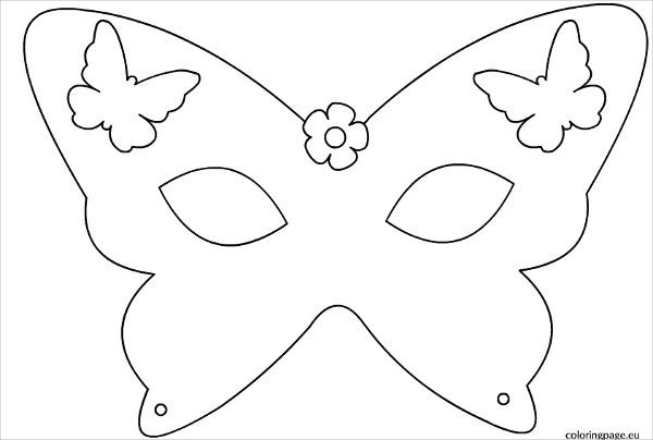 Perfect Printable Butterfly Mask Template In Mask Templates For Adults