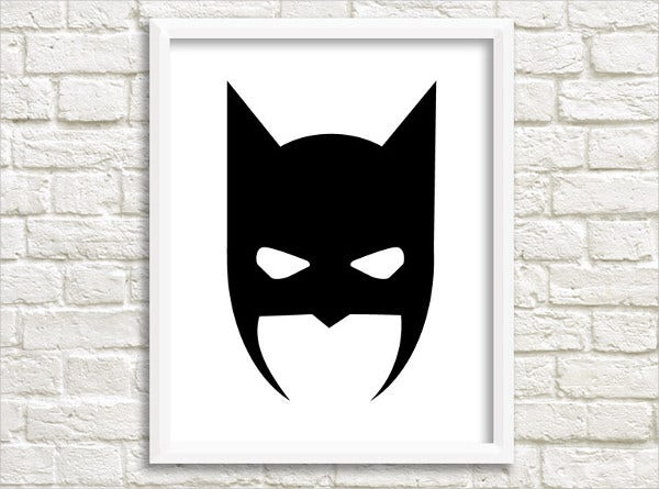 Printable Batman Mask Template