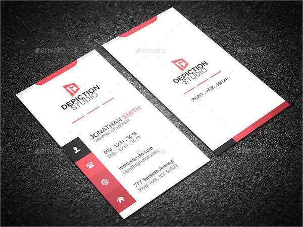 Minimalist Vertical Business Card