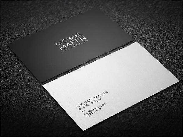 minimalist black business card