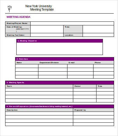 project meeting minutes template