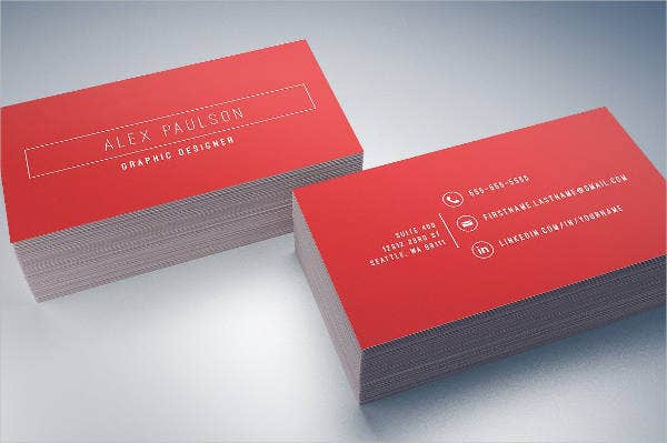 minimalist graphic design business card