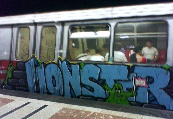subway train graffiti art