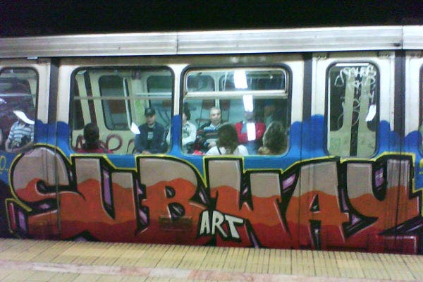 Subway Graffiti Art