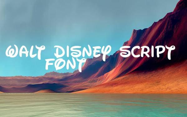 free-disney-script-font