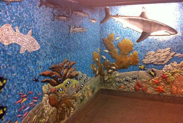 subway aqua art