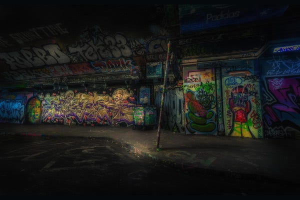 colorful subway art