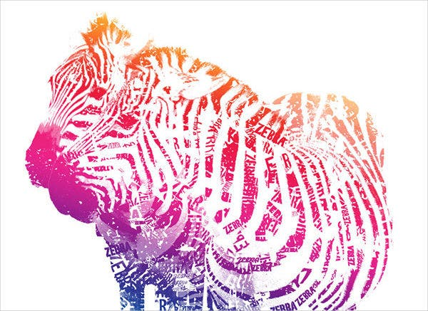 Zebra Typography Design
