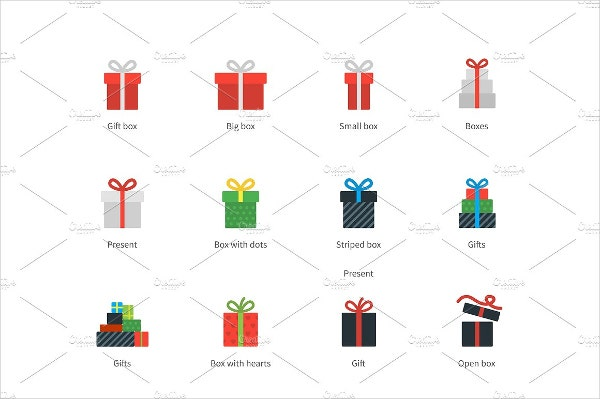 gift box style icons