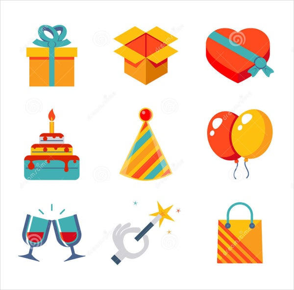 Party Gift Icons
