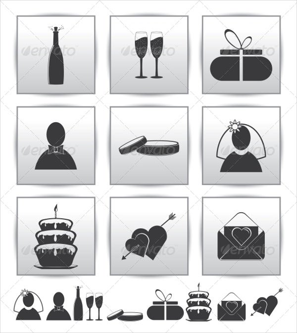 Wedding Gift Icons
