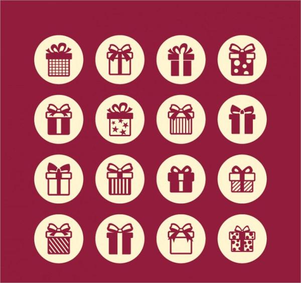 Free Gift Icons Set