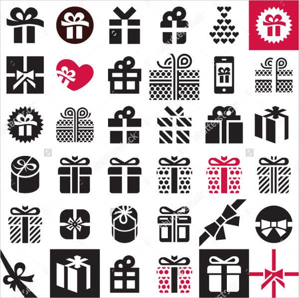 Elegant Gift Icon Set