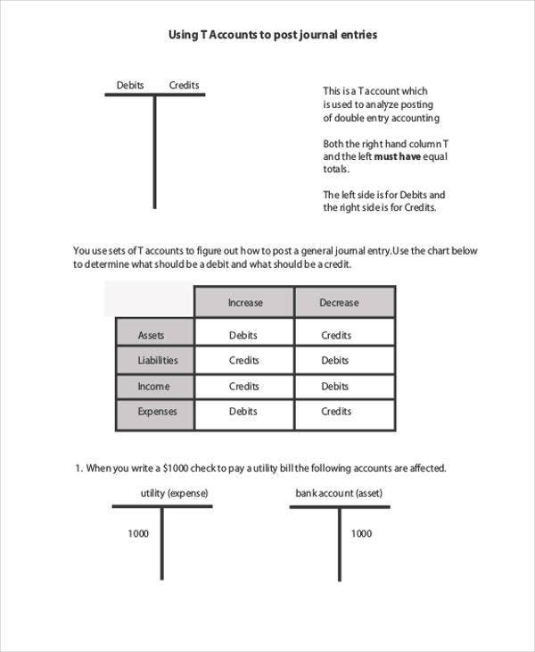 T-Chart Templates - 6+ Free Word, Excel, PDF Format Download ...