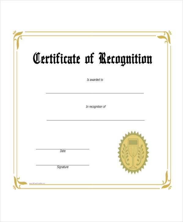 student recognition award template