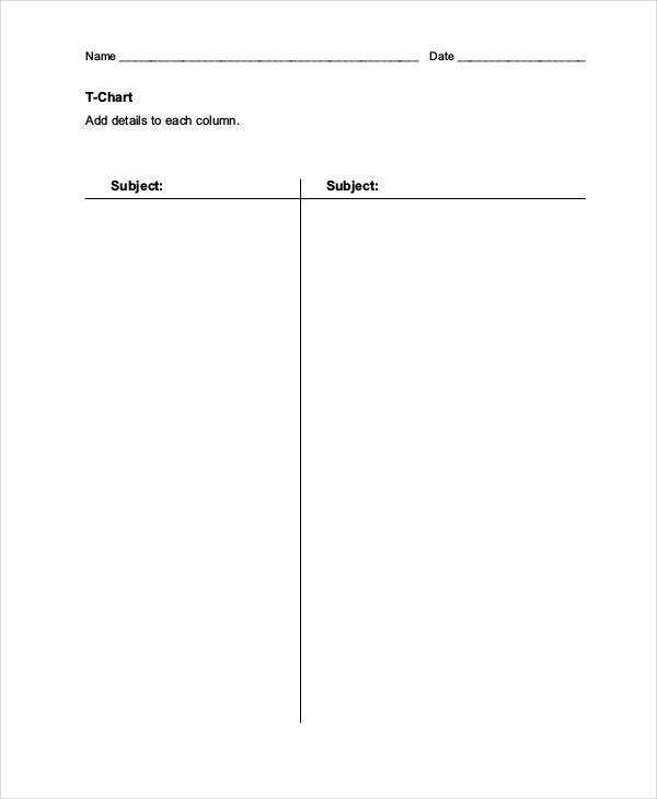 blank t chart template1