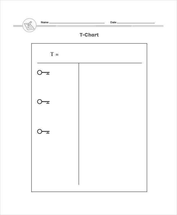 t chart note taking template