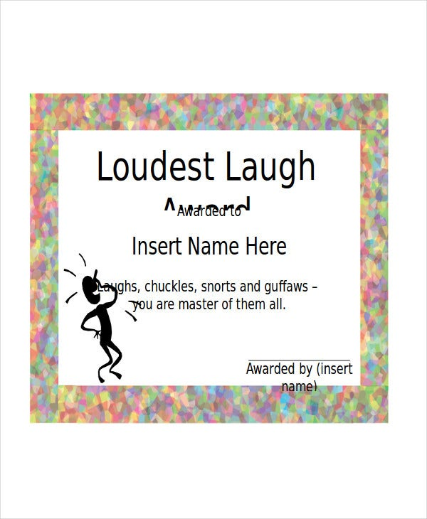 9 Sample Certificate Templates Free Sample Example Format – Funny Certificates Template