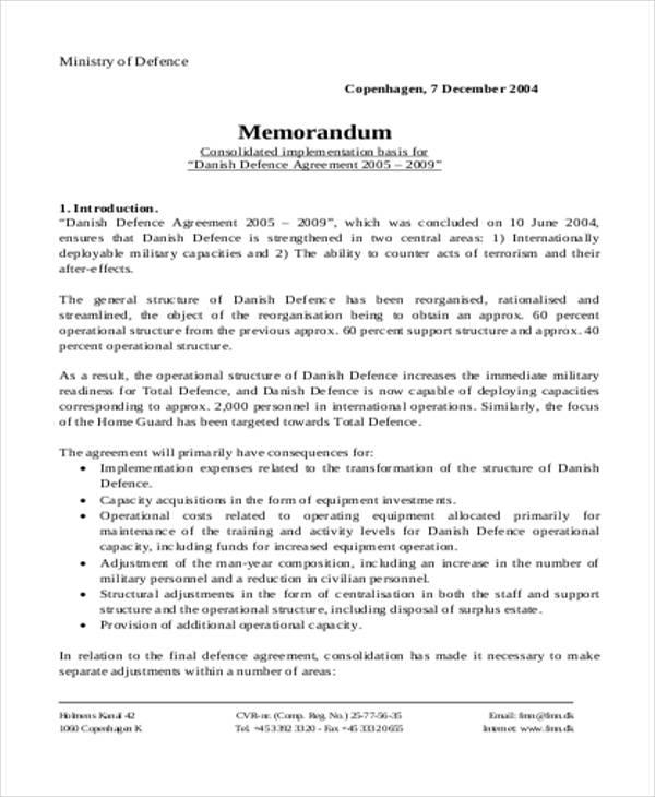 basic army memorandum template