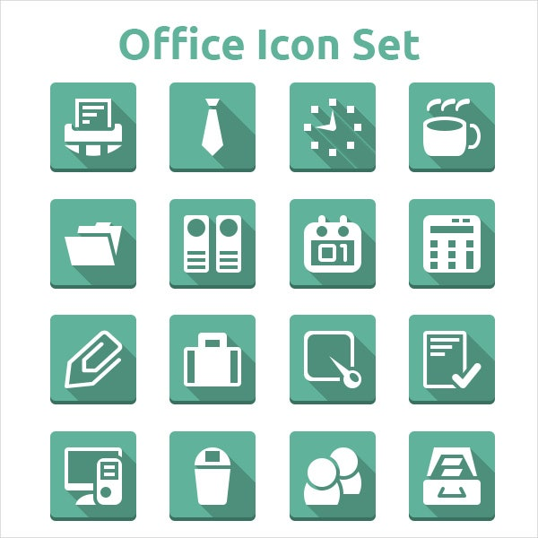simple psd office icons