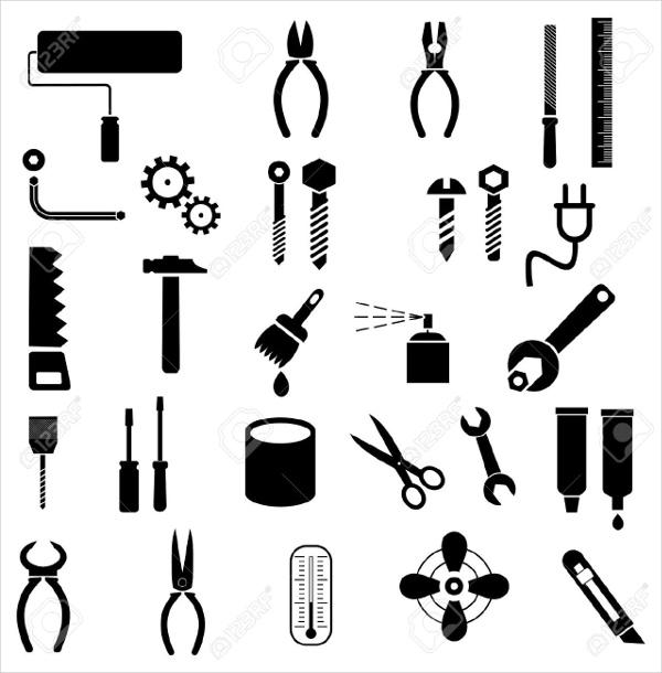 Hand Tool Icons Set