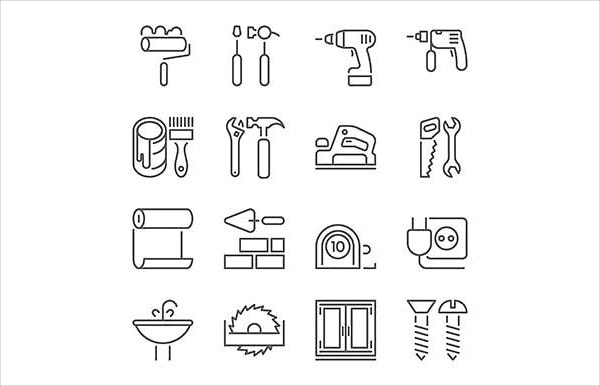 Home Repair Tool Icons