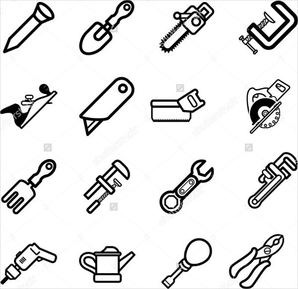 Vector Tool Icons Set
