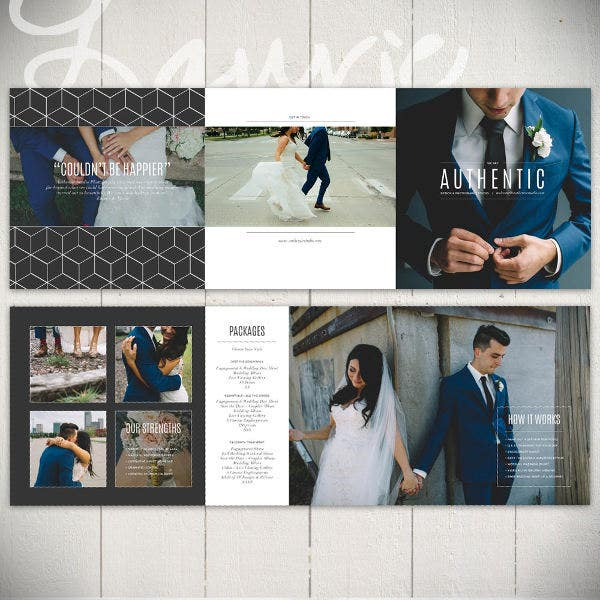 Professional Wedding Photography Brochure