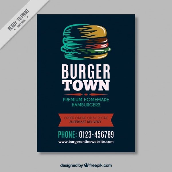 11   beautiful burger flyers