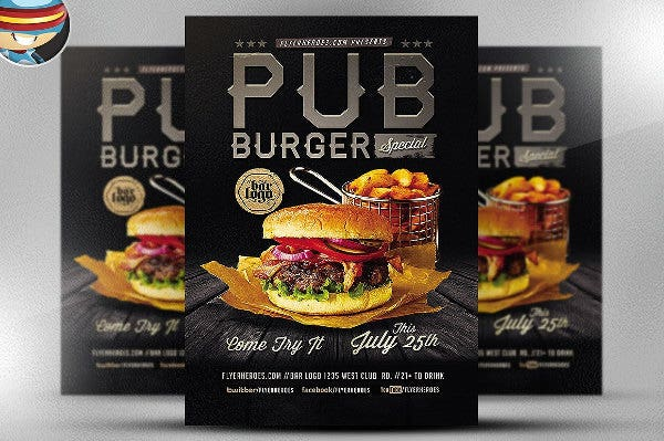 Pub Burger Flyer