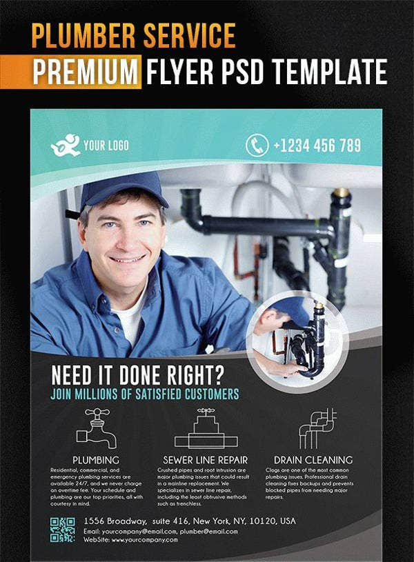 13 Beautiful Plumber Flyers Word Psd Ai Free
