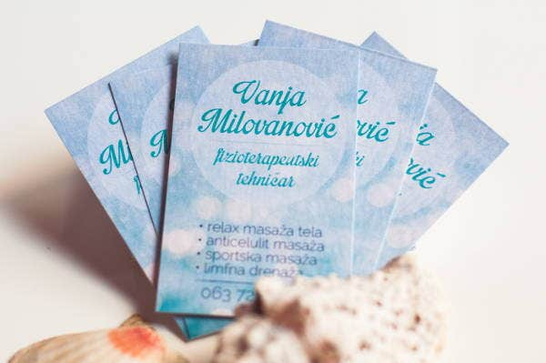 Sample Massage Business Card