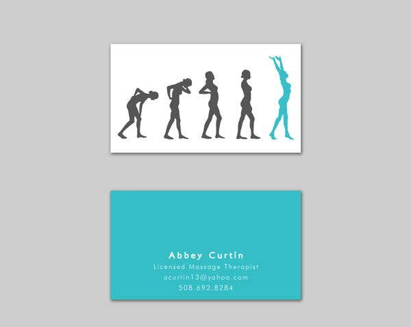 Printable Massage Business Card