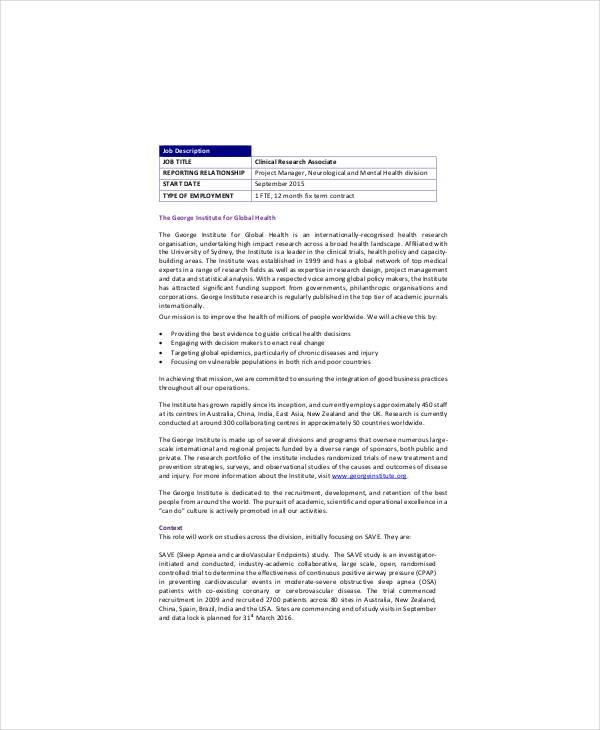 clinical neurologist job description