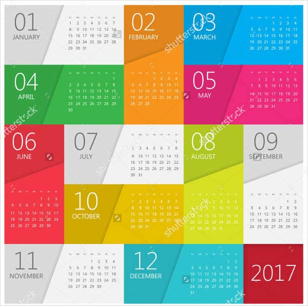 Photo Calendar Template   Free Sample Example Format  Free