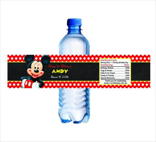 minnie-mouse-water-bottle-label