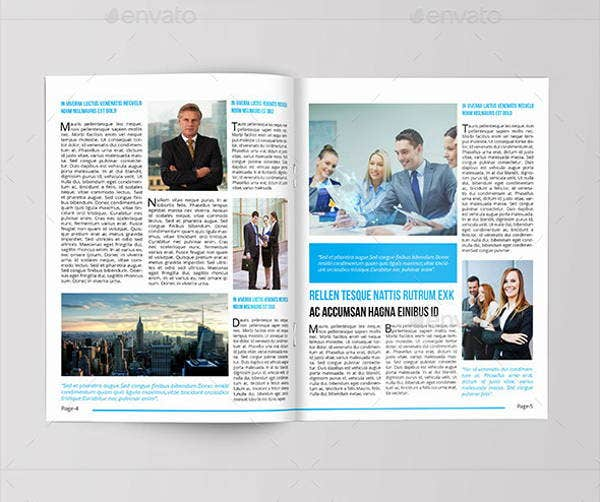 Corporate Newsletter Templates  Printable Psd Ai Indesign