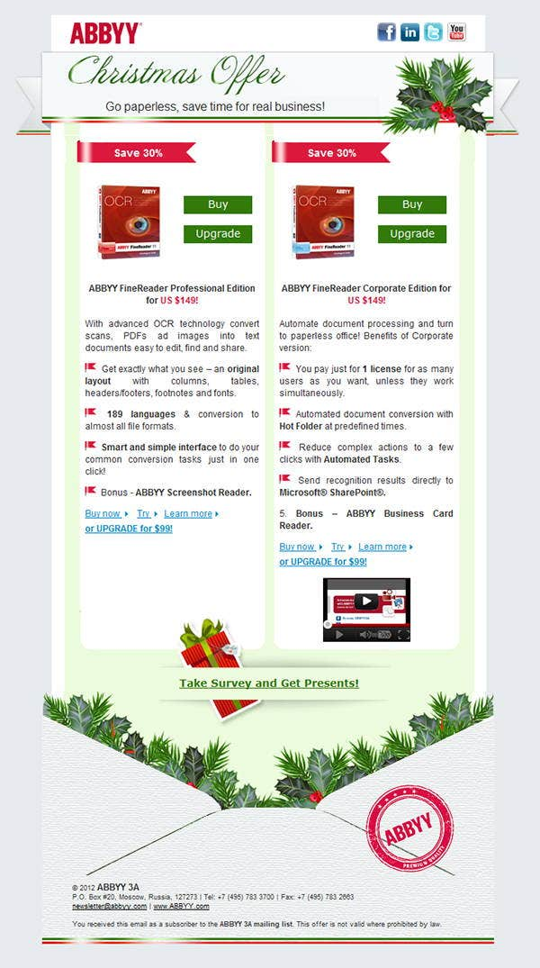 Corporate Christmas Newsletter Template