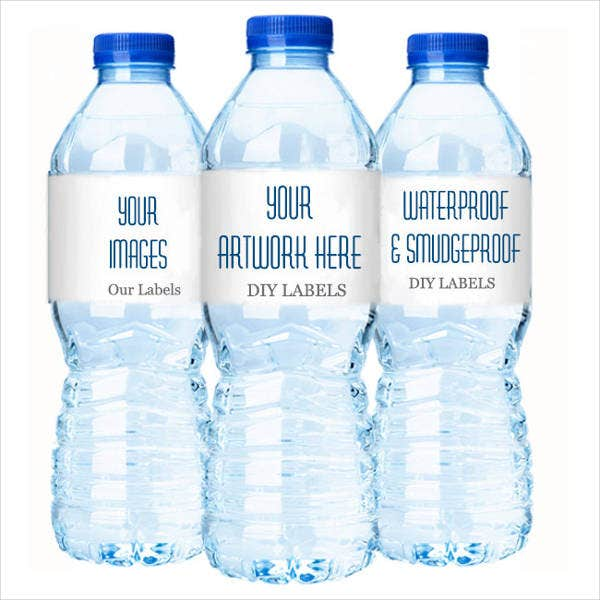 bottled water label template - printable water bottle labels free premium templates