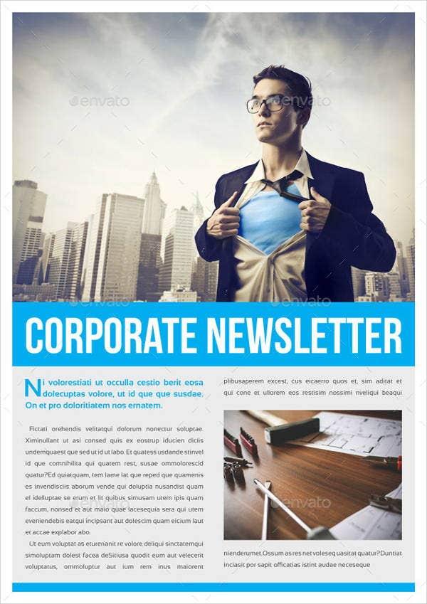 8 Corporate Newsletter Templates Printable PSD AI Indesign – Corporate Newsletter Template