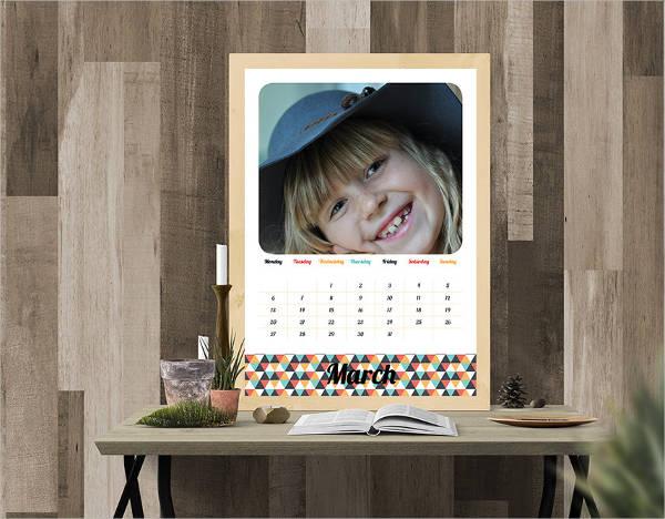 custom family photo calendar template