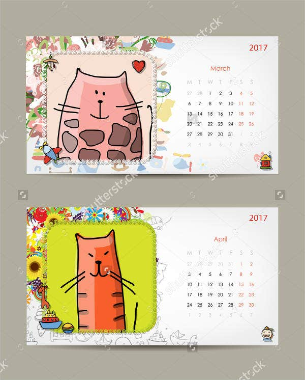 baby photo calendar template