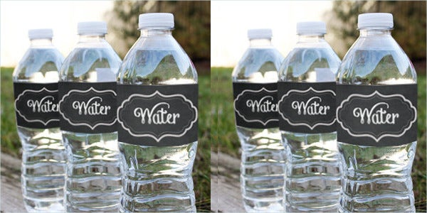 Chalkboard Water Bottle Label