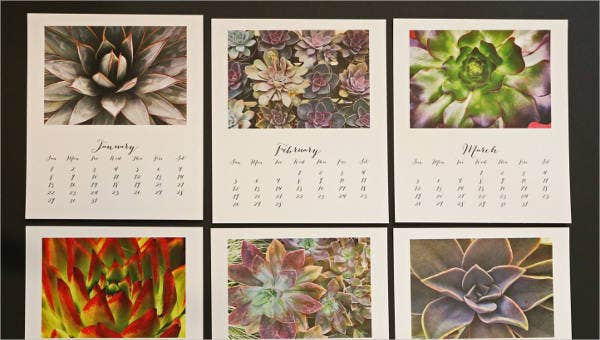 sample photo calendar templates