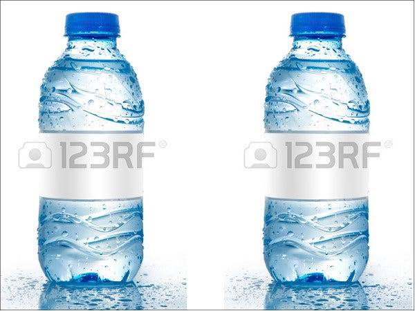 Blank Printable Water Bottle Label