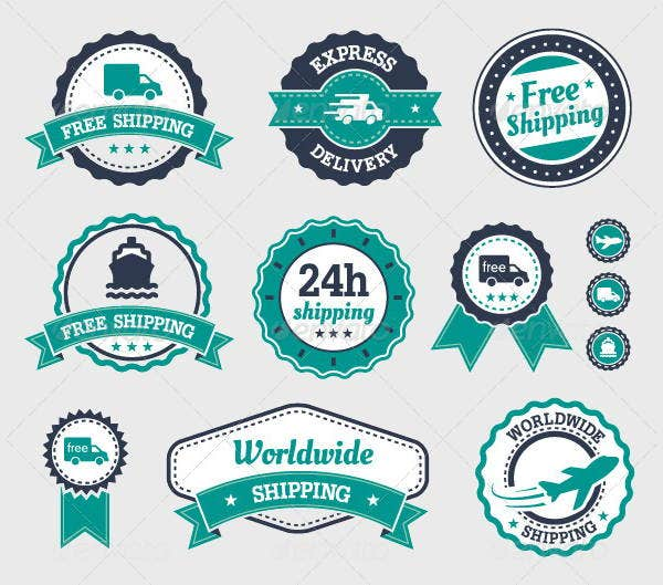 8 Shipping Label Templates Free PSD EPS AI Illustrator – Shipping Label Template Free