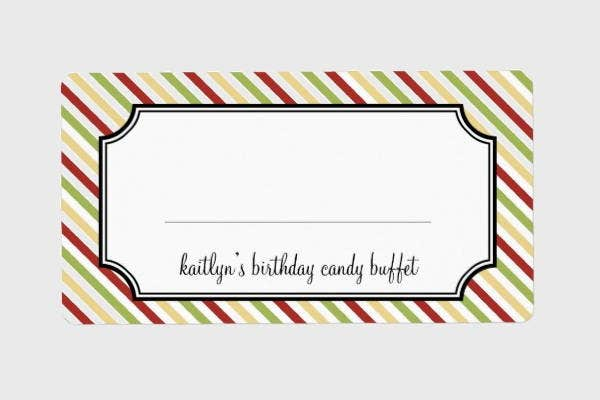 Holiday Shipping Label Template