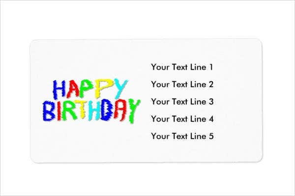 Birthday Shipping Label Template