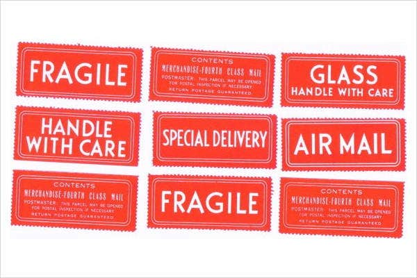 Vintage Shipping Label Template