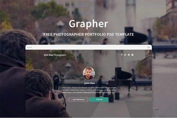 free web template for photographers